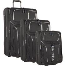 Nautica 3 Piece Expandable Spinner Luggage Set