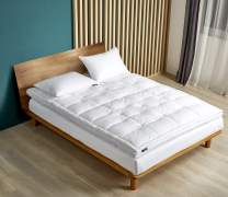 Serta 2-Inch Feather and Down Fiber Top FeatherBed, King, White