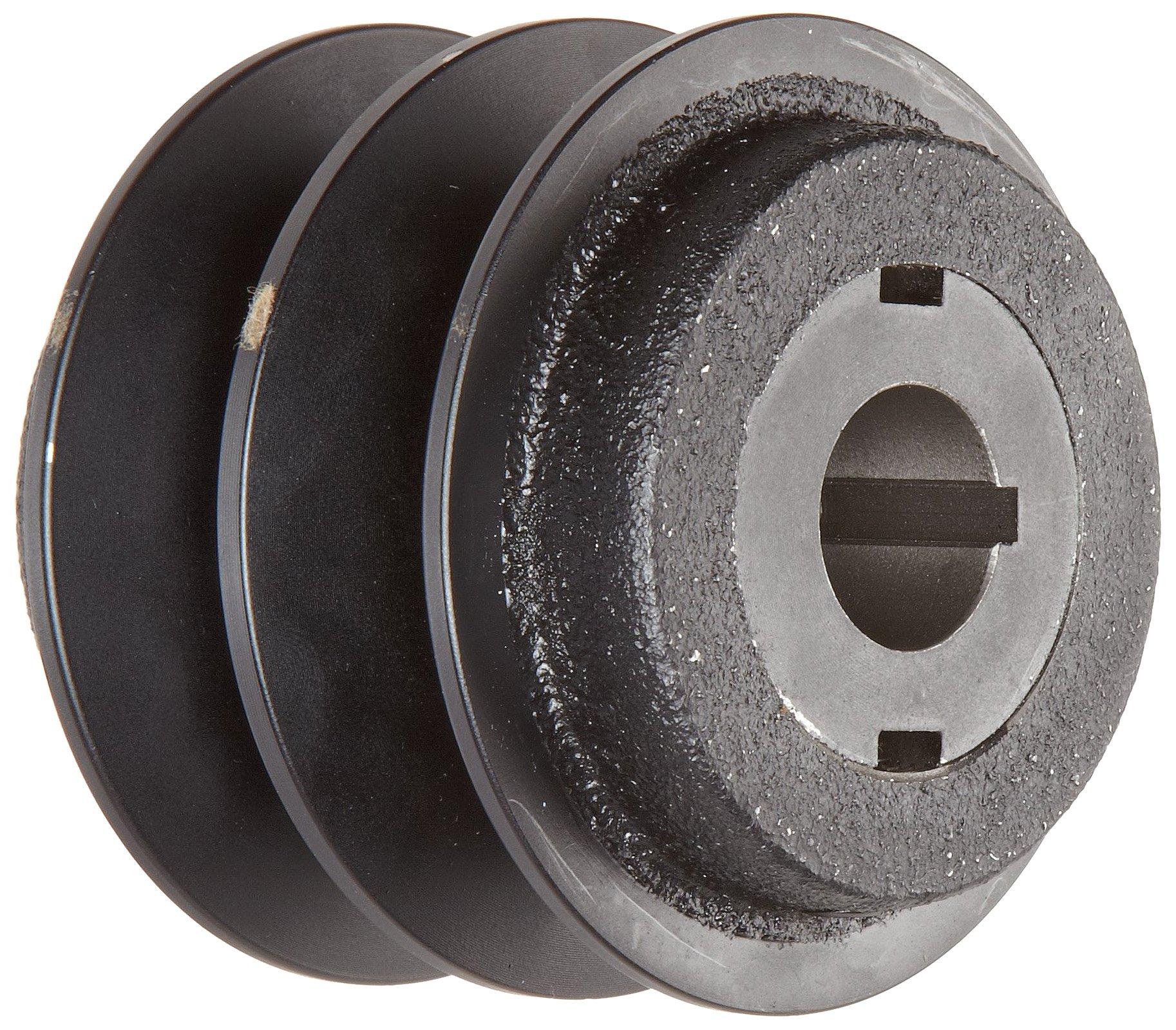 "Martin 2VP56 7/8 VP Sheave, 3L/4L/5L or A/B Belt Section, 2 Grooves, 7/8"" Bore, Class 30 Gray Cast Iron, 5.35"" OD, 4637 max rpm, 4.0-4.8"" Pitch Diameter/4.1-5.1 Datum/4.2-5.2 Datum"