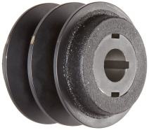 "Martin 2VP56 7/8 VP Sheave, 3L/4L/5L or A/B Belt Section, 2 Grooves, 7/8"" Bore, Class 30 Gray Cast Iron, 5.35"" OD, 4637 max rpm, 4.0-4.8"" Pitch Diameter/4.1-5.1 Datum/4.2-5.2 Datum"