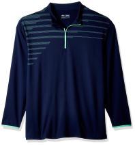 Callaway Men's Big & Tall Opti-Therm Long Sleeve 1/4 Zip Chest Print Knit Jacket