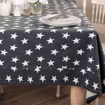 "VHC Brands Multi Star 16092 Table Cloth, 60"" x 60"", Navy"