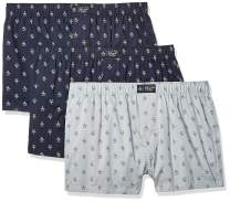Original Penguin Men's Underwear 100% Cotton Woven Boxers, Multipack