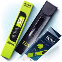 TDS Meter Digital Water Tester - 3 in 1 ppm EC and Temperature Test Pen | Easy to Use Water Purity Tester | Ideal for Testing RO Drinking Water Swimming Pool Hydroponics Aquarium & More