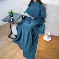 PAVILIA Premium Fleece Blanket with Sleeves for Adult, Women, Men | Warm, Cozy, Extra Soft, Microplush, Functional, Lightweight Wearable Throw (Sea Blue, Regular Pocket)