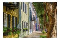 Charleston, South Carolina - Rainbow Row 9034088 (Premium 1000 Piece Jigsaw Puzzle for Adults, 19x27, Made in USA!)