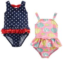 Simple Joys by Carter's Baby and Toddler Girls' 2-Pack One-Piece Swimsuits