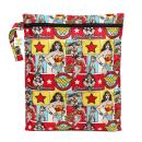 Bumkins DC Comics Wonder Woman Waterproof Wet Bag, Washable, Reusable for Travel, Beach, Pool, Stroller, Diapers, Dirty Gym Clothes, Wet Swimsuits, Toiletries, Electronics, Toys, 12x14