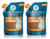 Bare Bones Chicken Bone Broth for Cooking and Sipping, Pasture Raised, Organic, Protein and Collagen Rich, Keto Friendly, 16 oz, Pack of 2