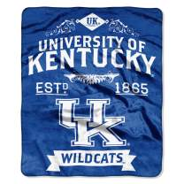 """Officially Licensed NCAA Label Plush Raschel Throw Blanket, 50"""" x 60"""", Multi Color"""