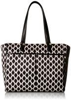 Vera Bradley Women's Uptown Baby Diaper Bag, Ikat Spots with Black, One Size