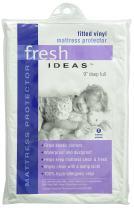 Fresh Ideas Waterproof Mattress Protector 100% Vinyl Hypoallergenic, Full