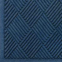 """M+A Matting 221 Waterhog Fashion Diamond Polypropylene Fiber Entrance Indoor/Outdoor Floor Mat, SBR Rubber Backing, 4' Length x 3' Width, 3/8"""" Thick, Navy"""