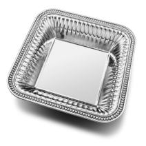 Wilton Armetale Flutes and Pearls Medium Square Serving Bowl, 12-Inch