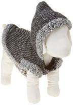 Fitwarm Knitted Sweatshirts for Dog Coats Sweater Pet Hooded Jackets, Grey