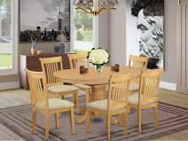 East West Furniture AVPO7-OAK-C Avon Set, Oak