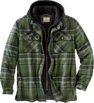 Legendary Whitetails Men's Maplewood Hooded Flannel Shirt Jacket