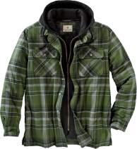 Legendary Whitetails Men's Maplewood Hooded Flannel Shirt Jacket