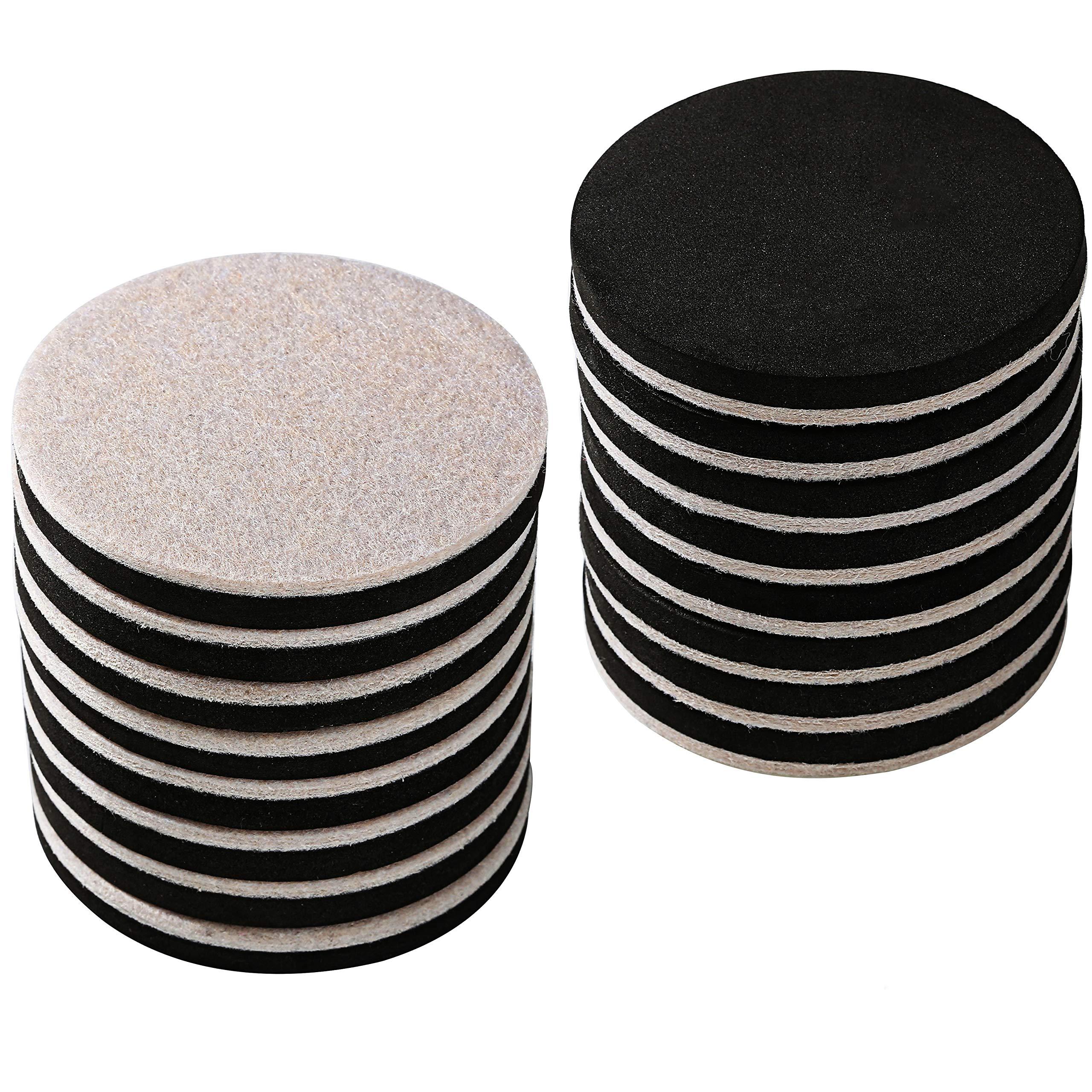 """NEW 5/"""" Furniture Sliders Heavy Duty Reusable Felt Movers for Hardwood Floors 4pk"""