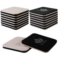 Liyic 4in.Square 16 Pack Felt Sliders for Hard Surfaces-Felt Furniture Sliders - Heavy Duty Sliders - Reusable Hardwood Floor Sliders -Furniture Moving Sliders-Sofa Sliders Gliders Glides Movers