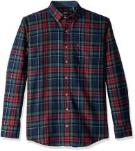 IZOD Men's Big and Tall Stratton Long Sleeve Button Down Plaid Flannel Shirt