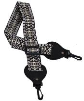 Performance Plus Adjustable Length Woven Banjo Strap With No-Scratch Hooks Pewter Sand (GS7-GT)