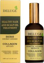 Healthy Hair and Scalp Oil Treatment - Baobab Oil, Coconut Oil, Avocado Oil - COLLAGEN Infused - Daily Moisturizer Serum Strengthens, Repairs, Shines, DeFrizz - Men and Women - Net Wt 3.38 oz (100 ml)