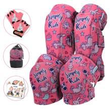 Simply Kids Innovative Soft Kids Knee and Elbow Pads with Bike Gloves I Toddler Protective Gear Set w/Mesh Bag I CSPC Certified I Bike, Roller-Skating, Skateboard Knee Pads for Kids Child Boys Girls