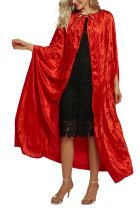 Urban CoCo Women's Costume Full Length Crushed Velvet Hooded Cape