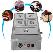 VEVOR 1KW Electric Chocolate Melting Pot Machi for Bakeries Cafes and Fountains 26.45lbs Commercial Cocoa Heater, 5 Tanks, Silver