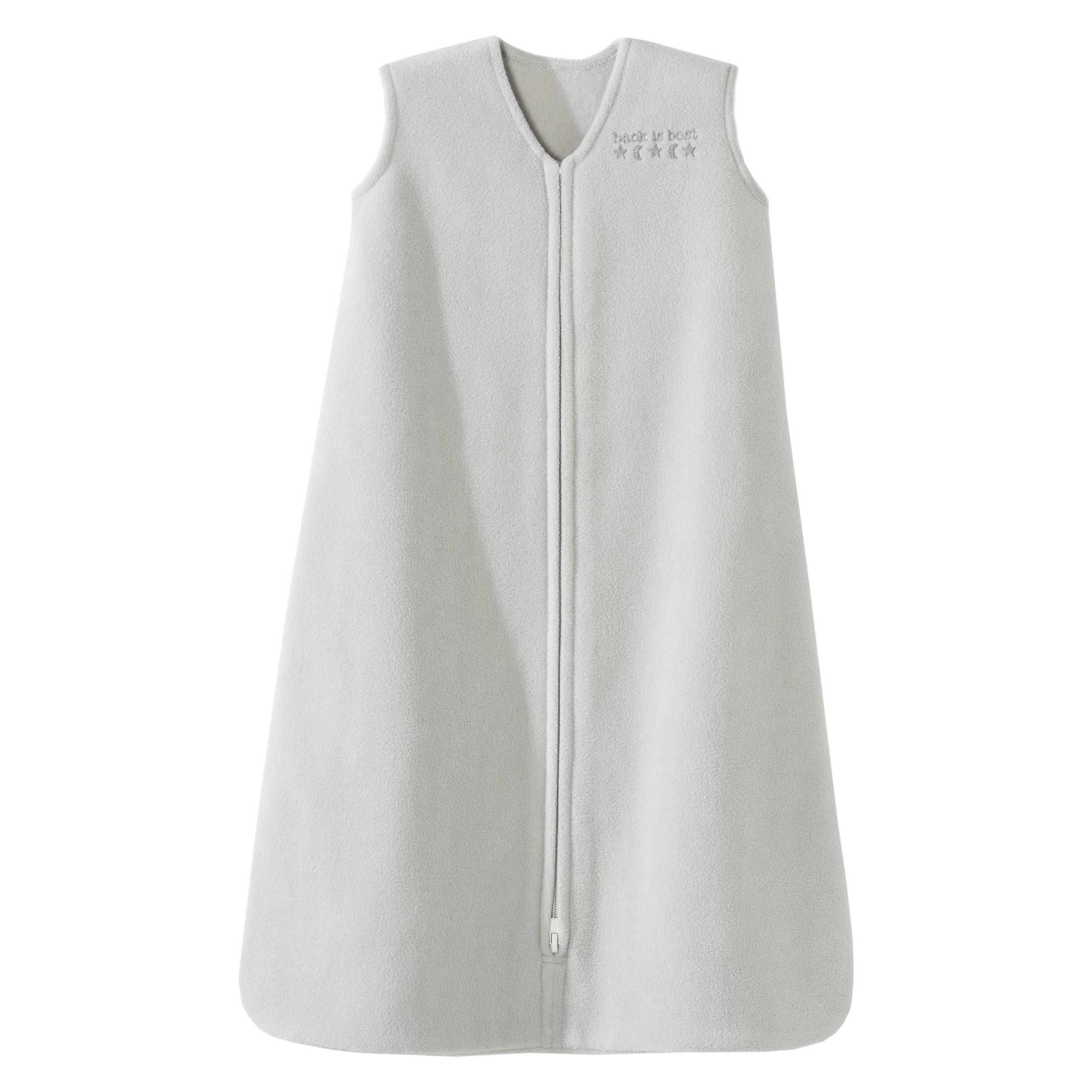 Halo Sleepsack Micro-Fleece Wearable Blanket, Gray, X-Large