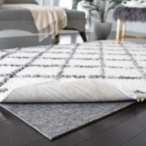 Safavieh Collection PAD130 Durable Hard Surface and Carpet Non-Slip (2' x 6') Rug Pad, Grey