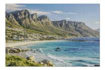 Cape Town, South Africa - Coastal Scene 9005100 (Premium 1000 Piece Jigsaw Puzzle for Adults, 19x27, Made in USA!)