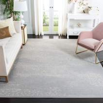Safavieh Carnegie Collection CNG691G Vintage Light Grey and Grey Distressed Area Rug (8' x 10')