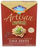 Blue Diamond Almonds Artisan Nut Thins Cracker Crisps, Chia Seeds, 4.25 Ounce