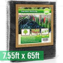 Bird Netting [Heavy Duty] Protect Plants and Fruit Trees - Extra Strong Garden Net Is Easy to Use, Doesn't Tangle and Reusable - Lasting Protection Against Birds, Deer and Other Pests (7.5ft x 65ft)