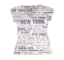 Sweet Gisele New York NYC T-Shirt   Colorful and Vivid Printing   Decorated with Rhinestones