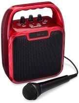 SoundBeast Pegasus Karaoke Machine & Portable PA Speaker System For Kids & Adults - With Microphone & Bluetooth (Red)