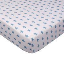 Living Textiles Crib Fitted Sheet - Little Crown