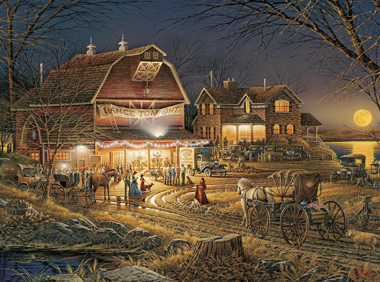 Buffalo Games - Terry Redlin - Harvest Moon Ball - 1000 Piece Jigsaw Puzzle