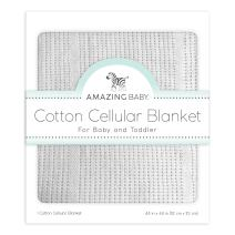 Amazing Baby Cellular Blanket, Premium Cotton, Soft Sterling