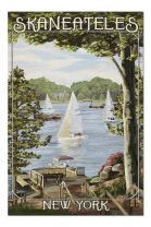 Skaneateles, New York - Lake View with Sailboats (Premium 1000 Piece Jigsaw Puzzle for Adults, 19x27, Made in USA!)