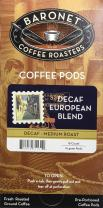 Baronet Coffee Decaf European Blend Coffee Pods, 54 Count