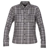 Hurley Women's Long-Sleeve Hooded Plaid Flannel Button Down Sweatshirt