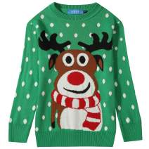 SSLR Big Boys' Xmas Funny Reindeer Pullover Ugly Christmas Sweater