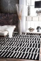 nuLOOM Lemuel Hand Tufted Wool Rug, 4' x 6', Black