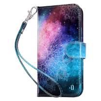 ULAK Compatible with iPhone 12 Wallet Case/iPhone 12 Pro Wallet Case with Card Holders, Designed Flip PU Leather Kickstand Shockproof Protective Phone Cover for iPhone 12/12 Pro 6.1'', Mandala