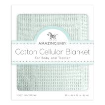 Amazing Baby Cellular Blanket, Premium Cotton, Soft SeaCrystal