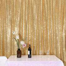 Sparkly Gold PartyDelight Sequin Backdrop, Photography, Christmas Backdrop, 5Ft x 6Ft