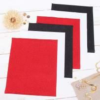 "Threadart Popular Colors 10"" x 12"" Glitter Heat Transfer Vinyl Precut Sheets | 2 White 2 red 2 Black Sheets | Glitter Colors Bundle Pack | For Silhouette Cameo Cricut |HTV"